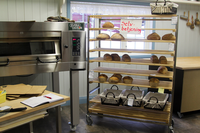 Self-service bakery in Norway