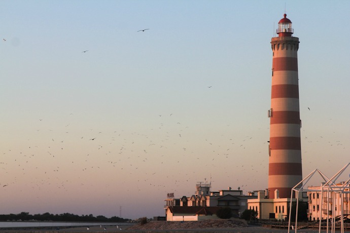 Lighthouse in Praia de Barra Portugal I @SatuVW I Destination Unknown