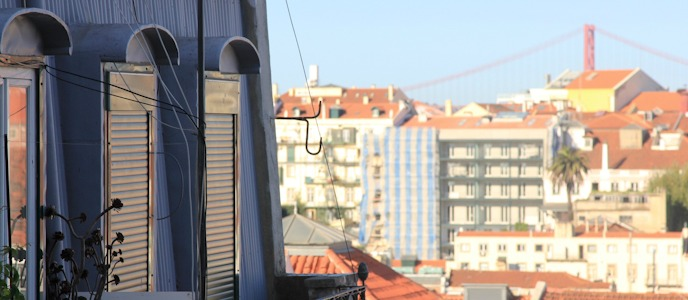 View of Lisbon from Wimdu apartment I @SatuVW I Destination Unknown