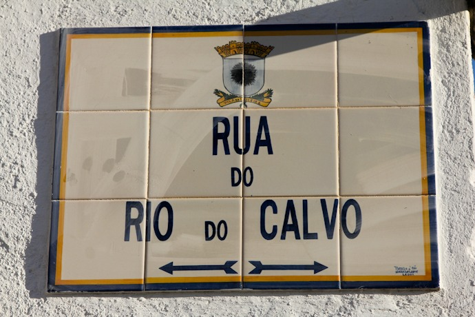 Street sign in Ericeira Portugal
