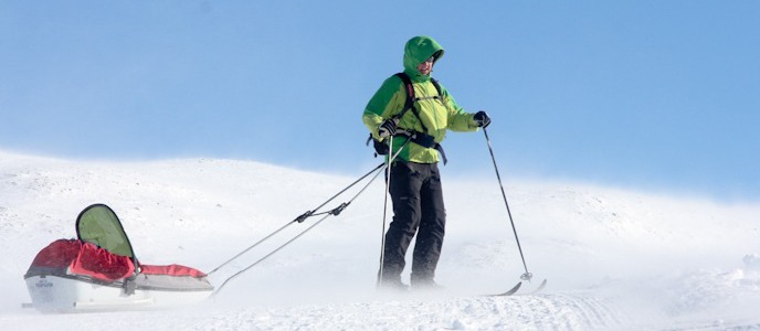 Skiing with sledge in Norway I @SatuVW I Destination Unknown